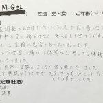 武蔵野市境 骨盤矯正 40代女性 M.Gさん