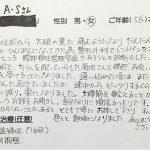 武蔵野市境 腰部脊柱管狭窄症 50代女性 A.Sさん
