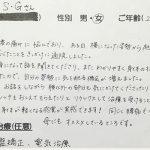武蔵野市境 腰痛 20歳女性 S.Gさん