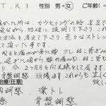 武蔵野市境 腰痛 猫背 60代 T.Kさん