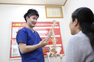 ウィル鍼灸整骨院 状態説明中の写真