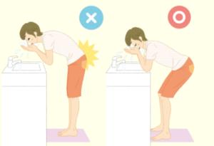 ウィル鍼灸整骨院 洗顔方法イラスト